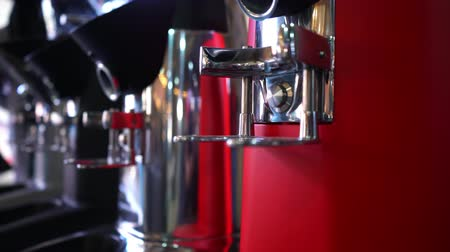 Professional coffee machine, close up