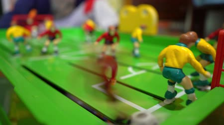 Table football, childrens board game Stok Video