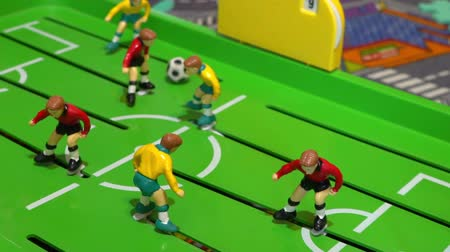 piłkarz : Table football, childrens board game Wideo