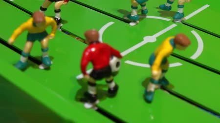 miniatűr : Table football, childrens board game Stock mozgókép