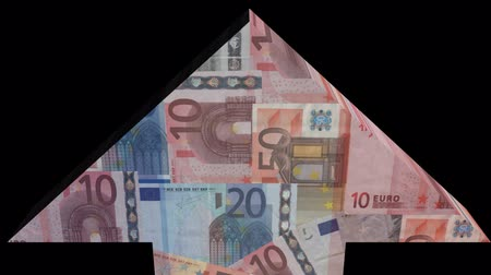 francja : Arrow with French flag blending into Euros animation