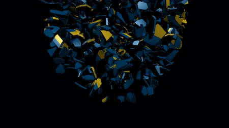 converge : Sweden flag sphere converging animation