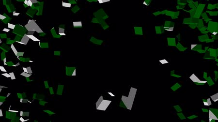 converge : Pakistan flag converging animation Stock Footage
