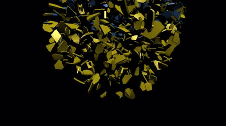 converge : Ukraine flag sphere converging animation Stock Footage