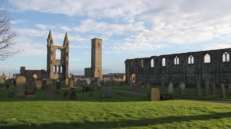 catedral : Timelapse of St Andrews cathedral Fife Scotland Stock Footage