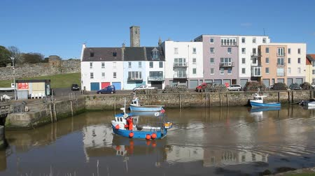 fife : St Andrews harbour Fife Scotland Stock Footage