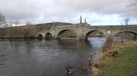 Timelapse of General Wades Bridge over River Tay Dunkeld Scotland