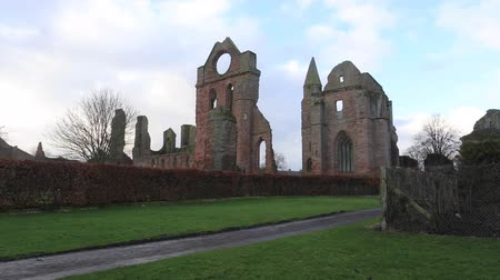 Timelapse of ruin of Arbroath Abbey Arbroath Scotland