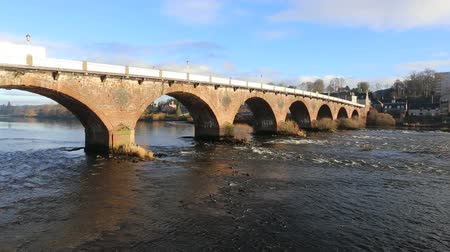 Smeaton Bridge over River Tay Perth Scotland Stock Footage
