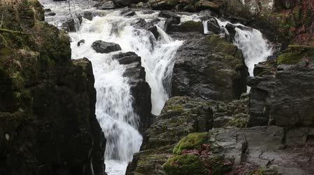 Waterfall on River Braan The Hermitage near Dunkeld Scotland