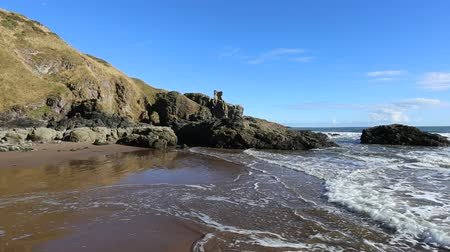Ruin of Kaim of Mathers Castle St Cyrus Nature Reserve Scotland