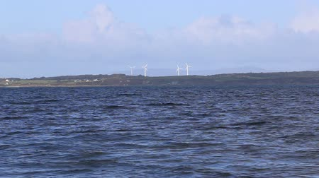 Wind turbines on Isle of Gigha Scotland