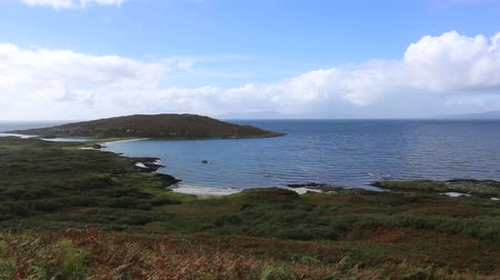Elevated view of Queens beach Bagh na Doi=rlinne Isle of Gigha Scotland