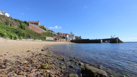 Timelapse of beach and Crail Harbour Fife Scotland