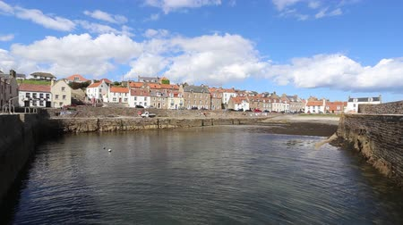 Cellardyke Harbour Fife Scotland Stock Footage