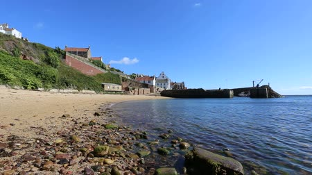 Beach and Crail Harbour Fife Scotland
