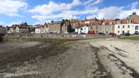 Cellardyke Harbour at low tide Fife Scotland