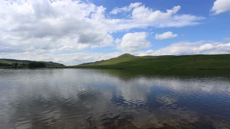 Harperleas Reservoir and West Lomond Fife Scotland Stock Footage