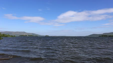 Waves on Loch Leven Scotland Stock Footage