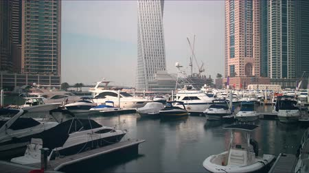 эмираты : dubai marina gulf counstruction time lapse