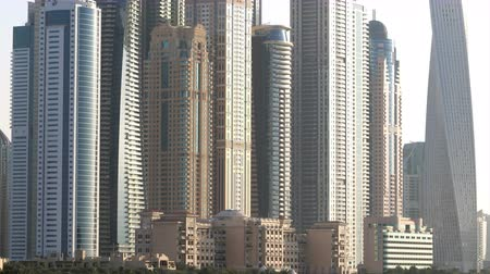 эмираты : day light dubai marina time lapse Стоковые видеозаписи