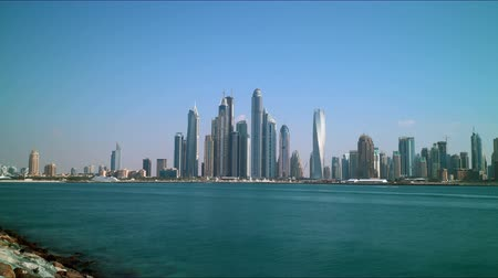 эмираты : dubai marina high light panoramic time lapse
