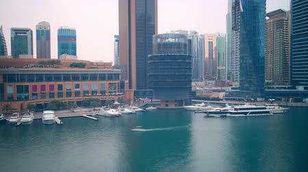 4k day time lapse from yaht dock from dubai