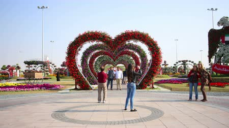4k time lpase with flower heart from dubai Stock Footage