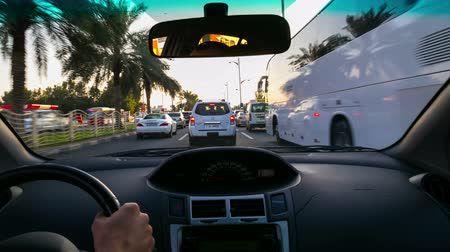 road movie 4k time lapse from dubai city