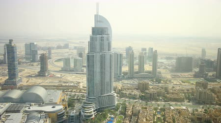 highest view on dubai famous hotel 4k time lapse Stock Footage