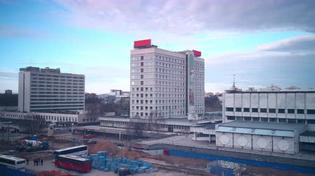 4k time lapse of hotel construction  Stock Footage