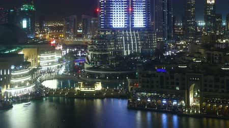 эмираты : night light dubai hotel 4k time lapse Стоковые видеозаписи