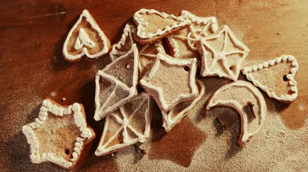 cinnamomum : Hungry family eating Christmas cookies very fast