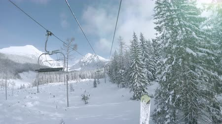 chair lift : Ski lift in snowy Tatras Mountain resort