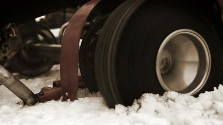 rpm : Sport karts wheel skidding in the deep snow and cant get out  High Definition Video : 29.97 fps  6 sec Please look another footages on my TrainArrival Account. Best Wishes.