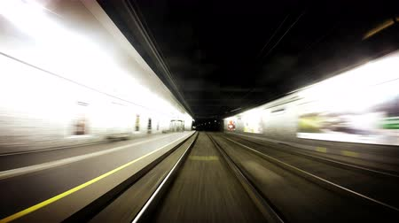 podzemní : 4K quality long footage of an underground train in Vienna following its route  4K Ultra UHDTV 3840X2160 : 29.97 FPS 20sec Please look another footages on my TrainArrival Account.  Best Wishes.