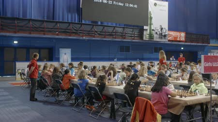 mastermind : Minsk, Belarus - June 22, 2018. World Cadets Rapid and Blitz Chess Championship