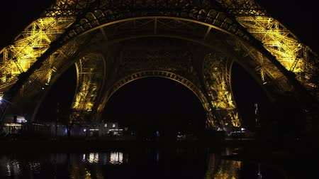 parisian : Night view of famous Eiffel Tower in Paris, France the tourism symbol