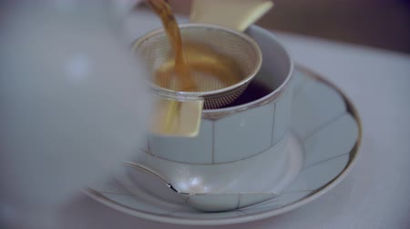 pouring : Closeup of pouring tea Stock Footage