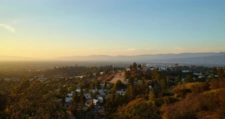 time flow : View from Hollywood hills on San Fernando valley