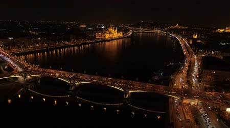 st stephen : Aerial View Budapest Night