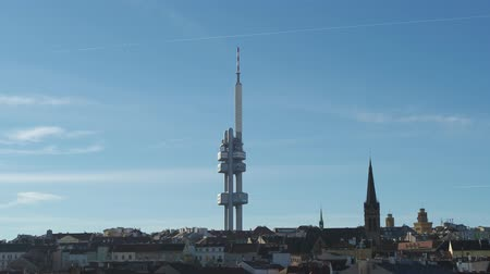 Drone aerial Television Tower in Prague, Czech Republic Stok Video