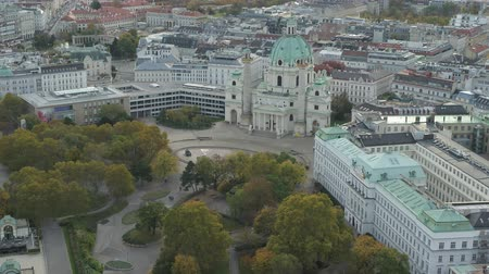 Drone Aerial Vienna State Opera and Cityscape