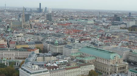 barok : Drone Aerial Vienna State Opera and Cityscape