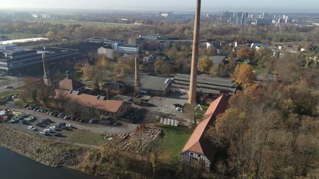 Aerial of Halle Saale 4K Drone shot of the old Factory Saline