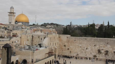 wailing wall : The Wailing Wall and  Dome of the Rock. Jerusalem