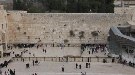 wailing : The Wailing Wall in Jerusalem Stock Footage