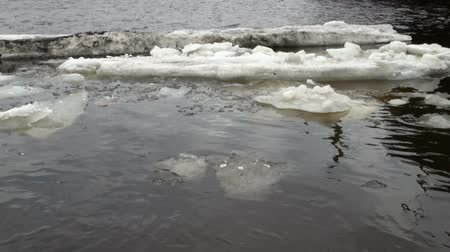 úszó jéghegy : Ice floe floats in water