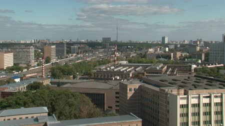 moscow panorama :  Moscow city Stock Footage