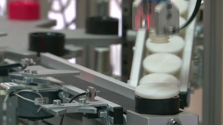 mecânica : Model of the automated factory Stock Footage